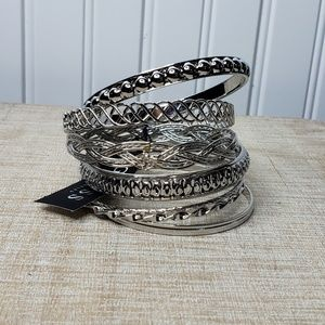 Guess | Seven Silver Stacking Bracelets